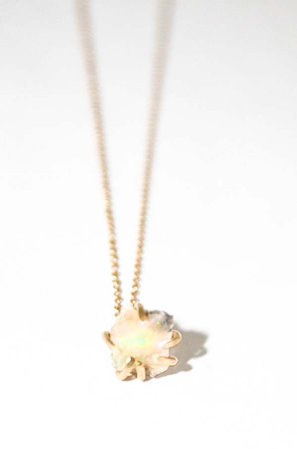 T.Kahres Opal Rough Cage Necklace