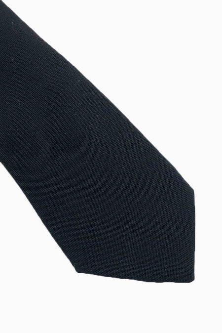 POCKET SQUARE CLOTHING Diplomat Wool Tie - Black