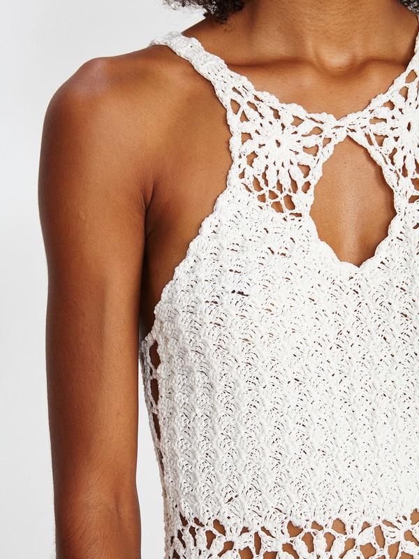 Harare CROCHET MINI DRESS / WHITE