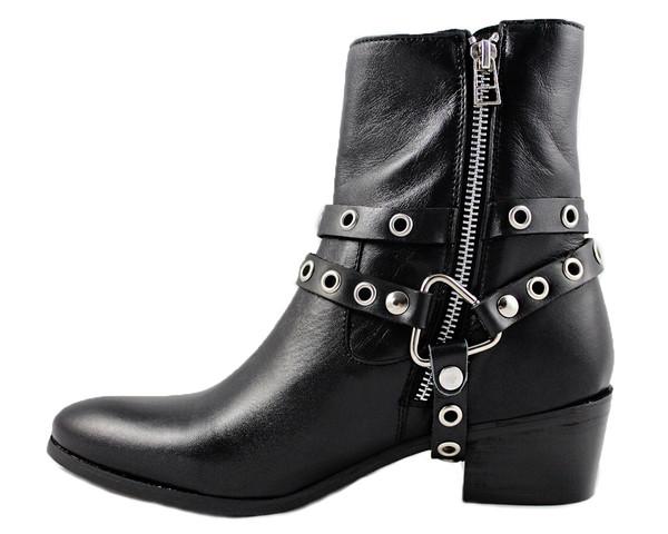 Cartel Footwear AW16 High Shaft Harness Boot - Rivera Black Leather