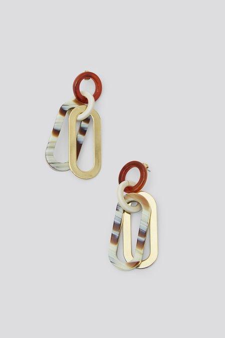 Rachel Comey Sour Earring - Striped Bone