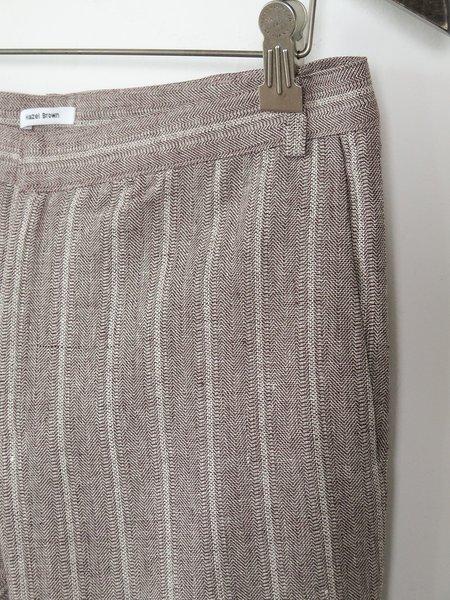 hazel brown skinny trouser - white/brown stripes