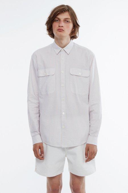 Schnayderman's Shirt boxy summer stripe - blue/white/orange