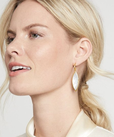 Julie Vos Venus Statement Earring - Gold/Mother of Pearl
