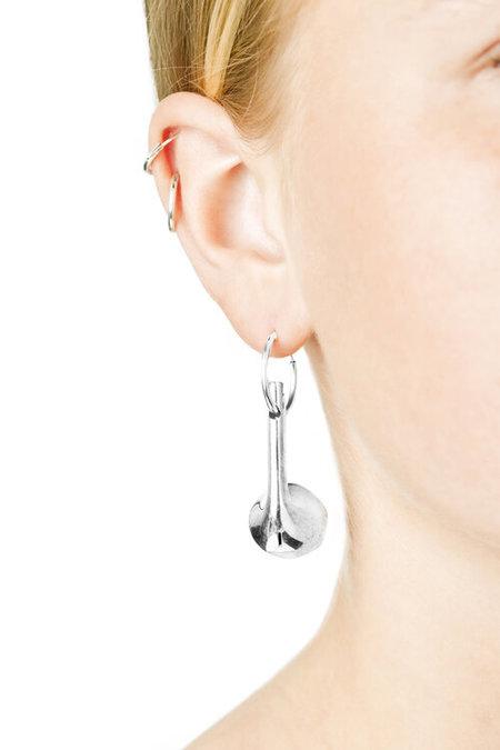 VIBE HARSLOF Hoop Airpods Earring - Silver
