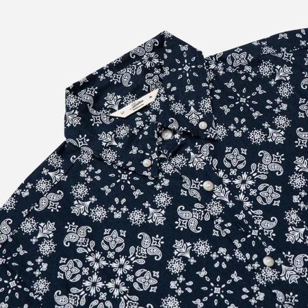 3Sixteen Popover Short-Sleeve Shirt - Navy Bandana