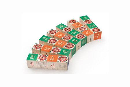 Kids Uncle Goose Korean Character Wood Blocks