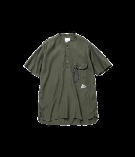 and wander Dry Linen Short Sleeve - Khaki