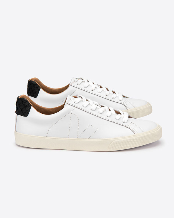 VEJA - Esplar Leather Tilapia Extra White Black