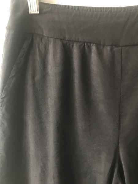 cut-loose Wide Leg Crop Pant - Black