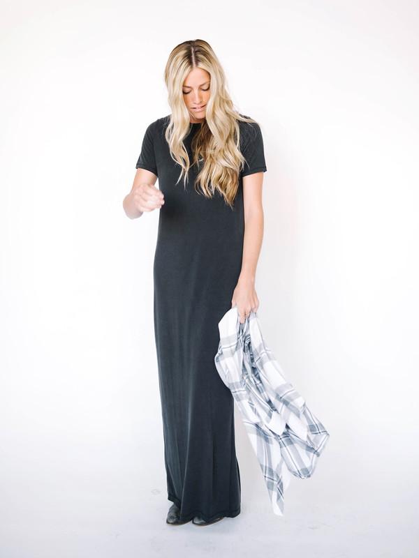 Jersey Suede Shirt Dress