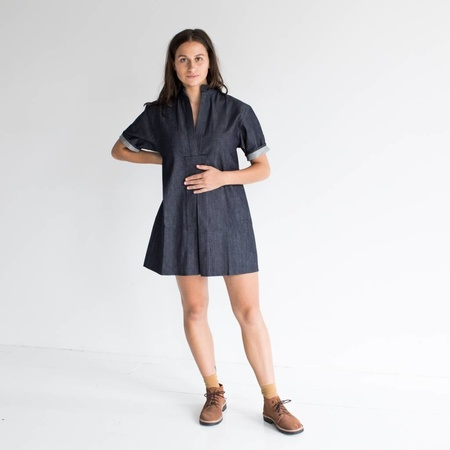 Sara Ruffin Costello Short Smock Dress - Denim