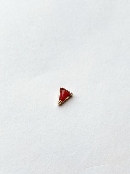 Mociun Single triangle stud - Multiple gems