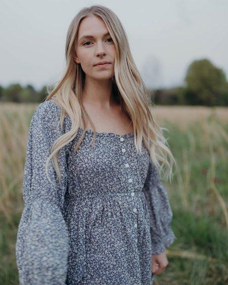 Esby CATERINA DRESS - DENIM FLORAL
