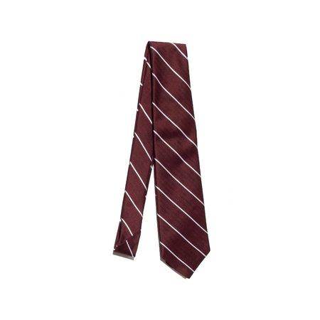 Freemans Sporting Club Freemans Necktie - Burgundy Stripe