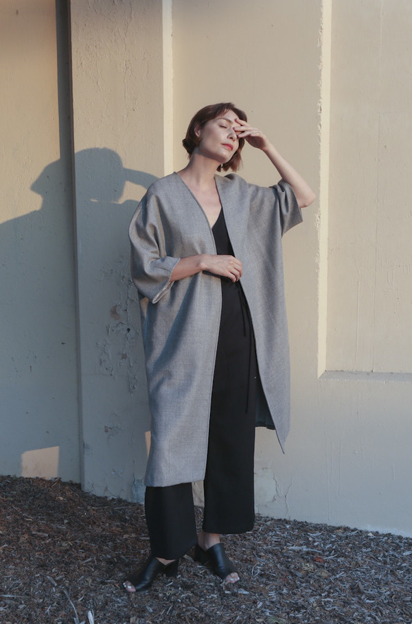 Town Clothes Ruth Coat in Stone