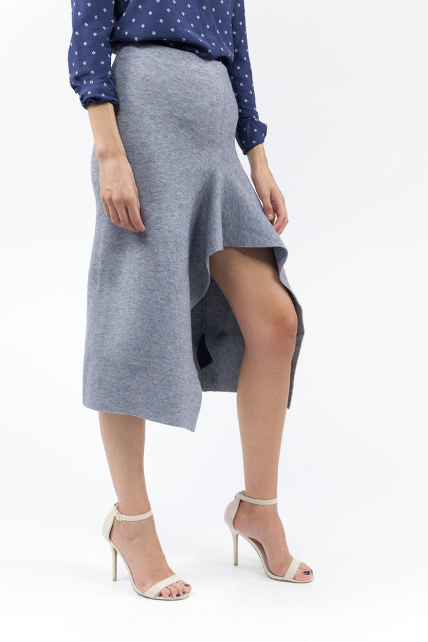 C/MEO Break Free Knit Skirt - Grey Marle