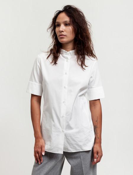 Acne Studios Womens Sybil Dry Poplin Shirt White