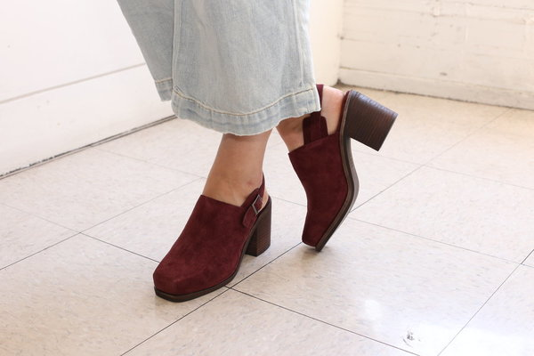 Intentionally Blank HONCHO in BURGUNDY SUEDE