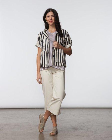 SBJ Austin Kim Jacket - Navy/Cream Stripe
