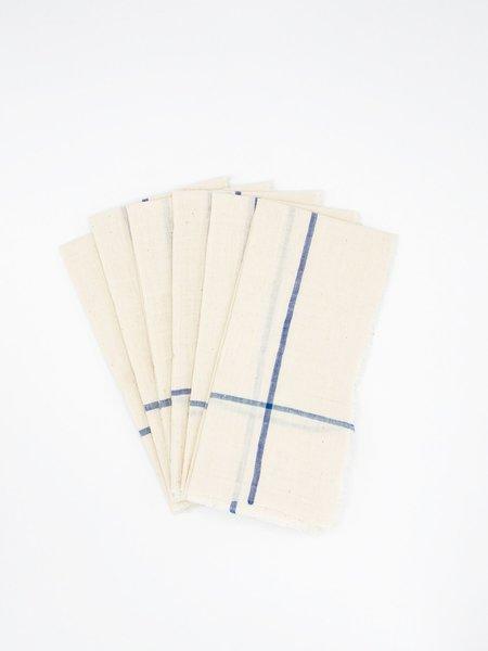 Auntie Oti Khadi Cotton Napkin Set - White