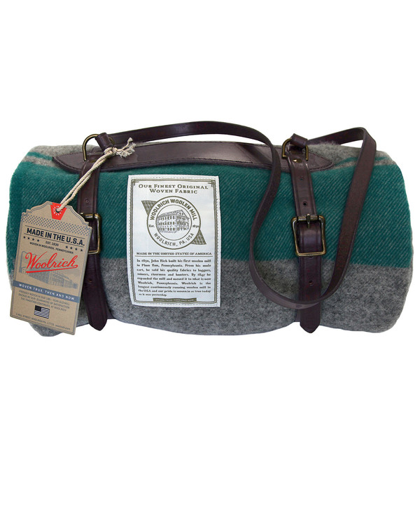 Woolrich Leather Blanket Harness Carrier
