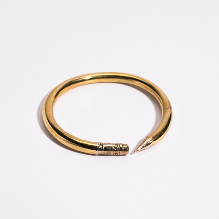 open house projects Pencil Bangle Brass