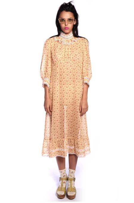 Anna Sui Rosebuds Mock Neck Dress