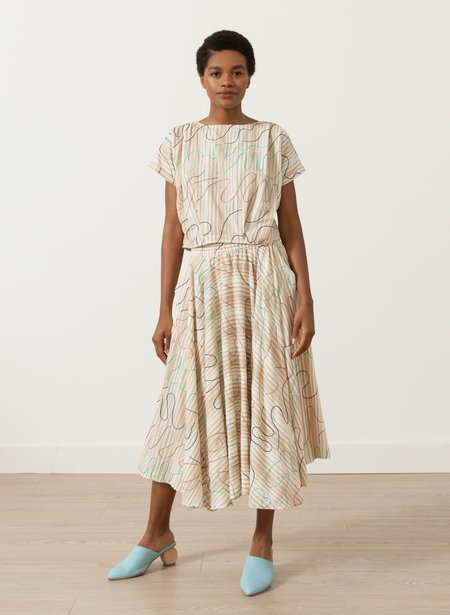 Seek Collective Abby Skirt - chant embroidery