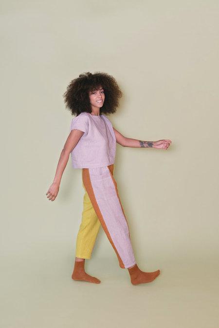 MARTY JEAN Color Block Uniform Pant