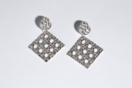 Saint Claude x Freda Caning Dangle Earring - Sterling
