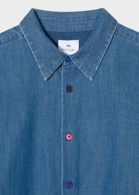 Paul Smith Contrast Button Denim Shirt