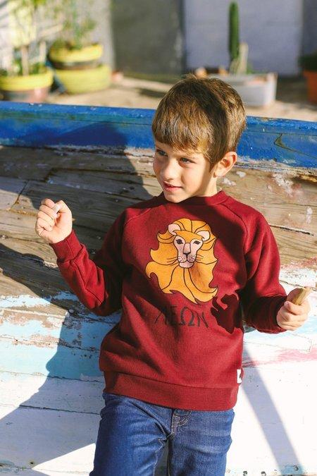 Kids ARTEMIS & APOLLON LION SWEATSHIRT - BORDEAUX