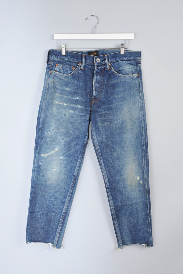 Used Repair Narrow Tapered Cut Jeans by Chimala
