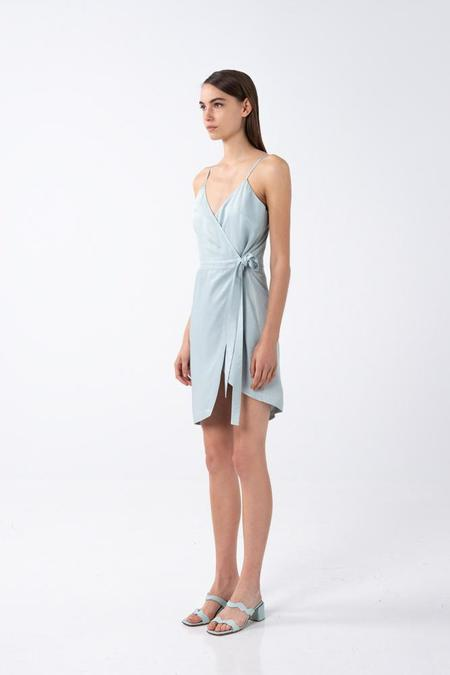 AISHA DIRI STRAPPY DRESS - Shy Green