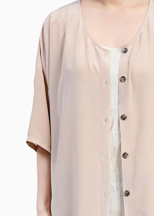 Revisited Matters Crepe Silk Cardigan Dress