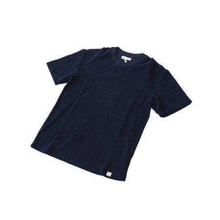Merz b. Schwanen FTCTOS01 French Terry Crew Neck T-Shirt Oversized - Deep Blue