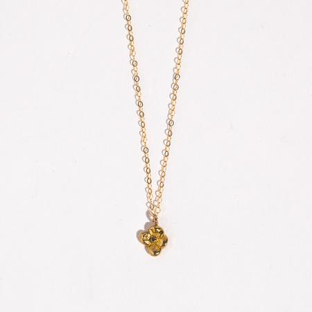 Saint Claude x Freda Petit Primrose Necklace - Brass/Sapphire