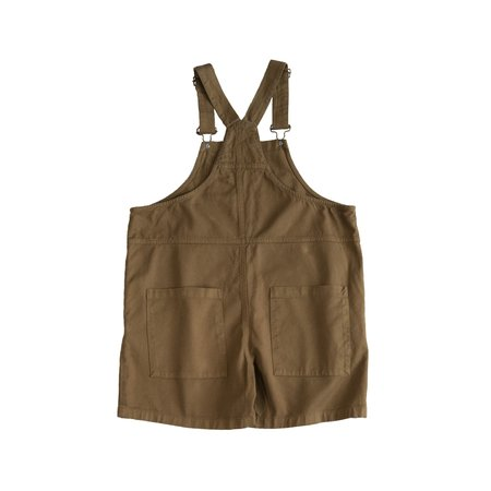 Kids Main Story Short Dungaree - Butternut