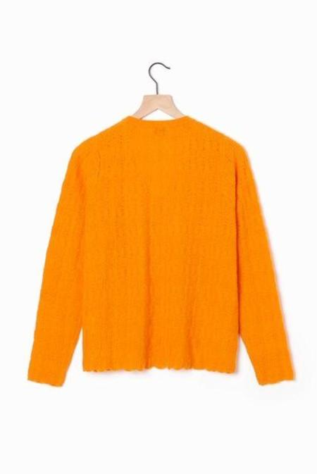 Allude U neck Sweater - orange