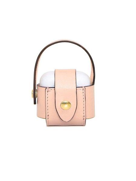 Officina del Poggio Cipria Leather AirPod Case - pale pink