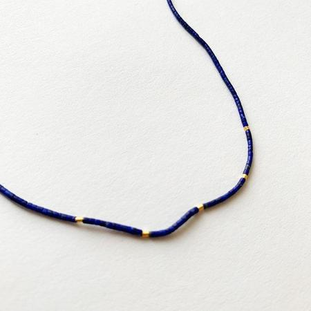 Nancy Yuan Lapis Necklace with beads - 18kt gold