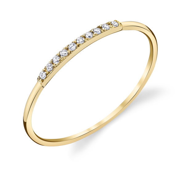 Gabriela Artigas 14K Yellow Mini Axis Pave Ring