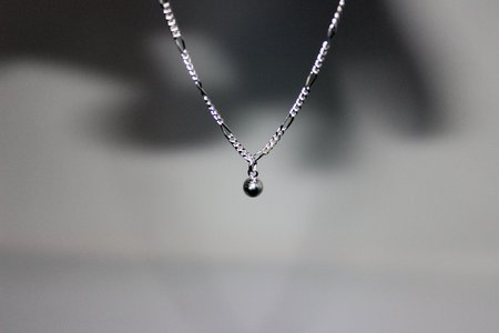 Body Double Wrecking Ball Anklet - sterling silver