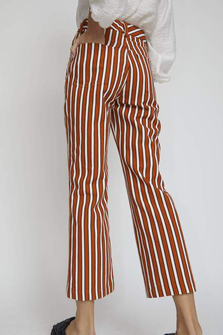 No.6 Tuesday Jean - Tobacco Stripe