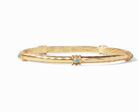 Julie Vos Savannah Stone Bangle - Gold/Turquoise