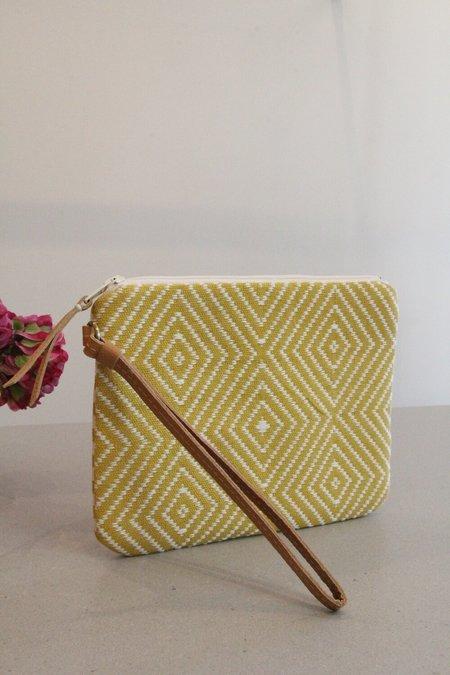 Mercado Global Mini Lily Wristlet - Sunflower yellow