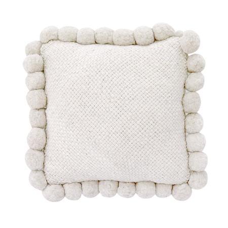 Pampa Monte Pom Pom Cushion - off white