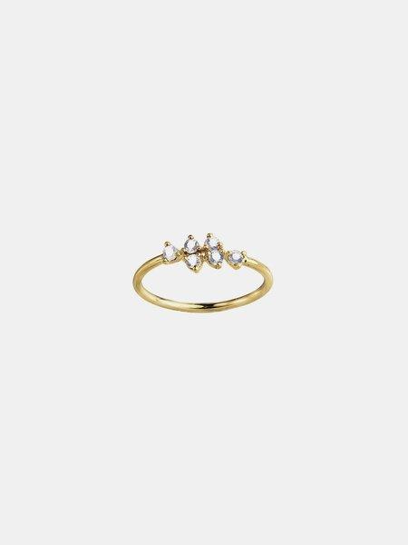 wwake sapphire mirrored points ring - 14k yellow gold