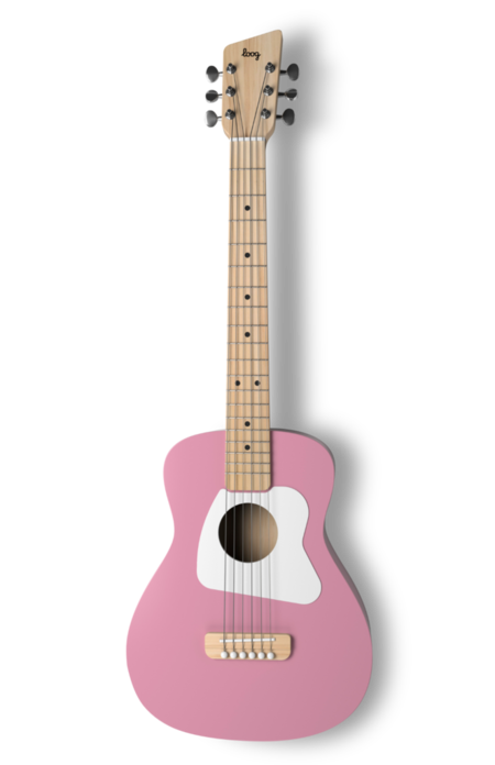 Kids Loog Guitars Loog Pro VI Acoustic Guitar - Pink